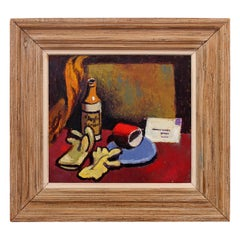 Modernist American Still Life Oil Painting