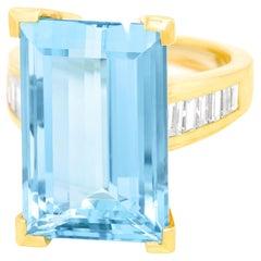 Modernist Aquamarine-Set Ring
