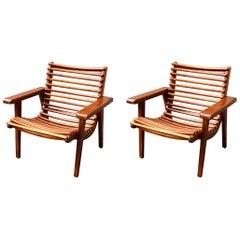 Modernist Armchair by M. Van Beuren Set of 2 Pieces