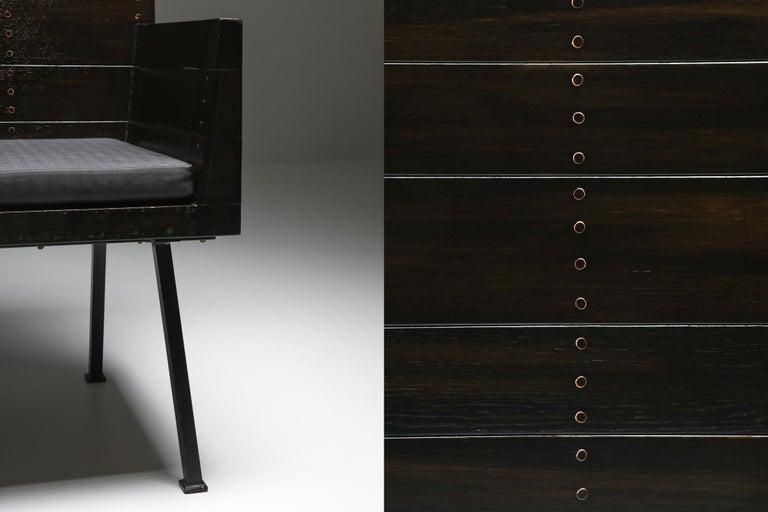 Modernist Armchair by Dom Hans Van Der Laan For Sale 4