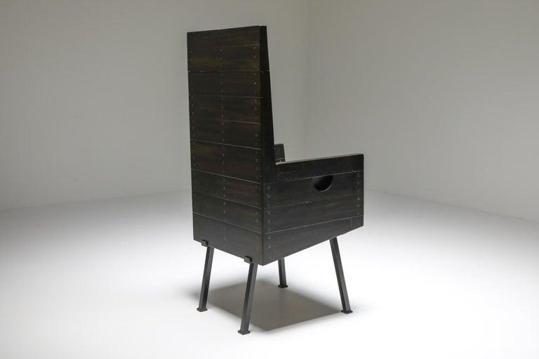 Dutch Modernist Armchair by Dom Hans Van Der Laan For Sale