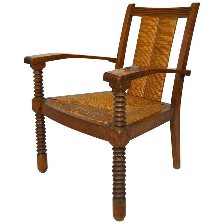 Art Deco armchair, 1950s, offered by  Le Voyageur Antiquités