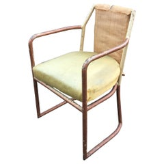 Modernist Art Deco Chair in Copper, circa 1920