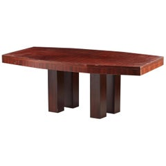 Modernist Art Deco Table circa 1930-1940 Attributed to Jacques Adnet