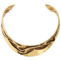 Modernist Articulated Gold Collar