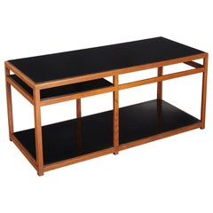 Modernist Ash Two Tier Sofa Table by Edward Wormley for Dunbar