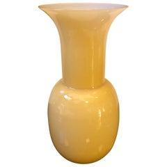 Modernist Aureliano Toso Light Brown Murano Glass Vase, Italy, 2000