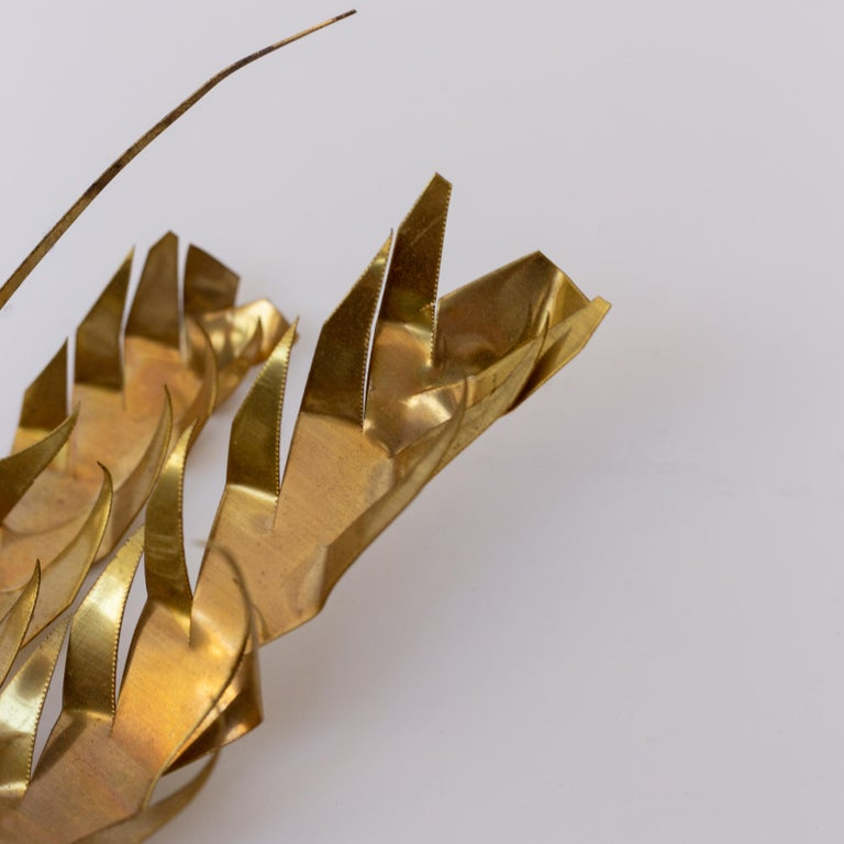 Modernist Belgian Wall Relief Brass Art Piece by Daniel Dhaeseleer, 1960s For Sale 4