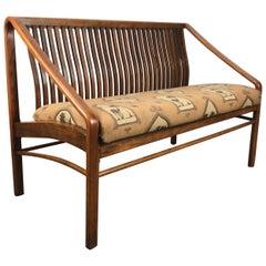 Modernist Bent Oak Settee or 2-seat sofa after Edward Wormley