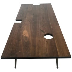 Modernist Bespoke Walnut Coffee/Cocktail Table Designed by John Tracey