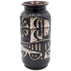 Modernist Black and White Ceramic Vase