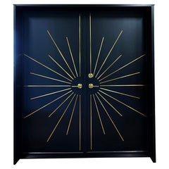 Modernist Black Double Entry Door Built to Specifications