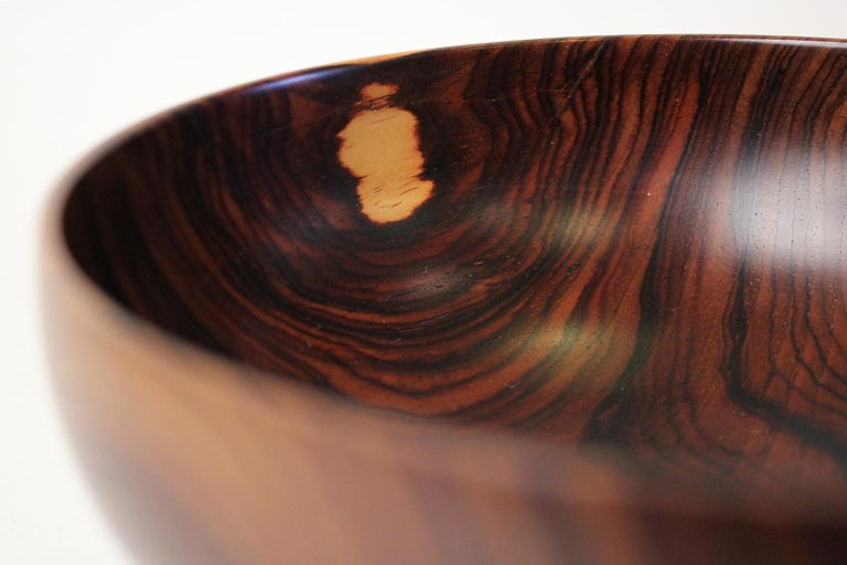 Modernist Bob Stocksdale Cocobolo California Design Turned Art Bowl Vessel For Sale 2