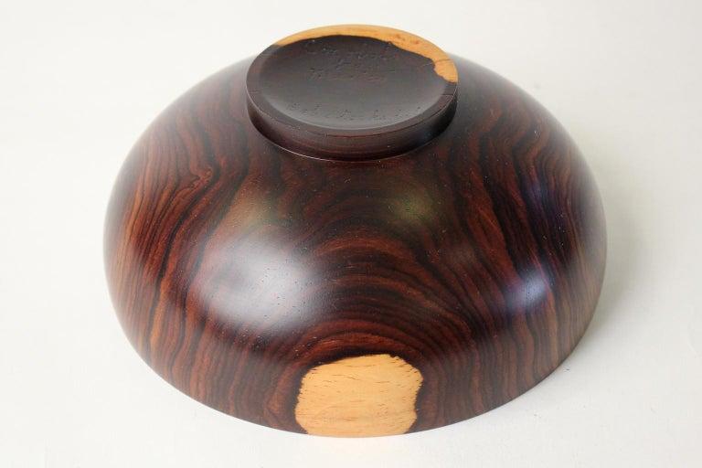Modernist Bob Stocksdale Cocobolo California Design Turned Art Bowl Vessel For Sale 4