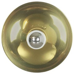 Modernist Brass 1960s German Disc Wall Light Made by Cosack, Germany