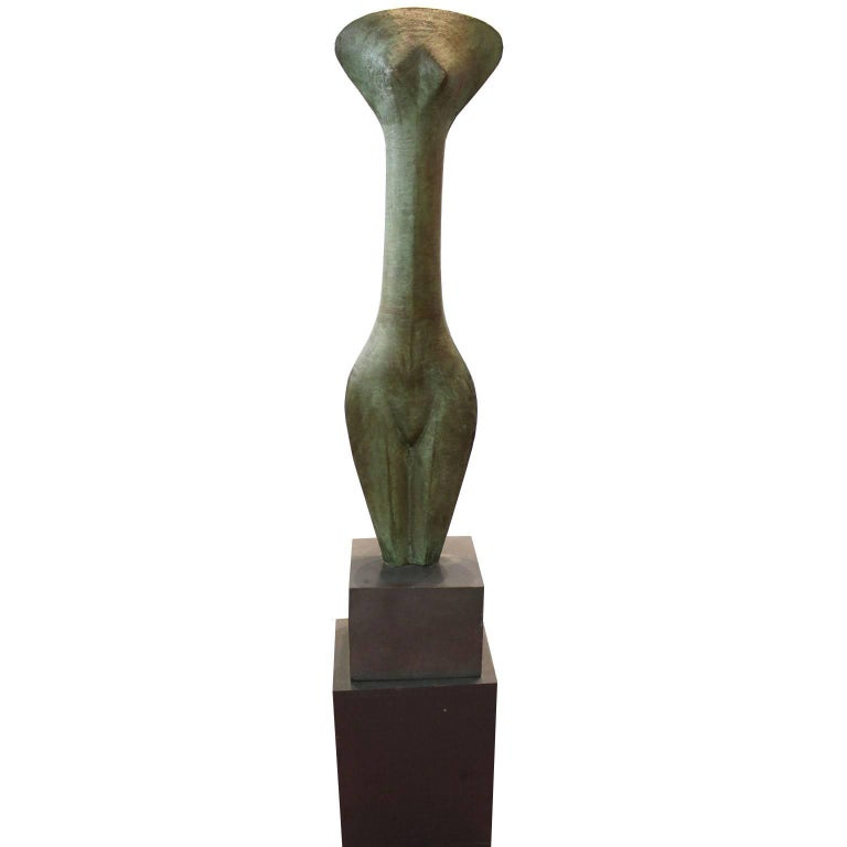 Modernist Bronze Sculpture Large Female Torso