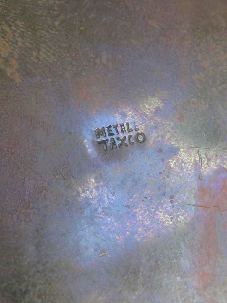 Modernist Brutalist Taxco Metales Mexico Brass Desk Stash Trinket Cigarette Box For Sale 9