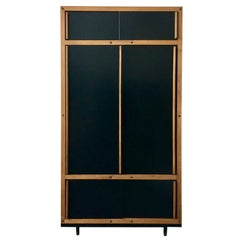 Modernist Cabinet or Armoire in Black by André Sornay, France, Mid-20th Century