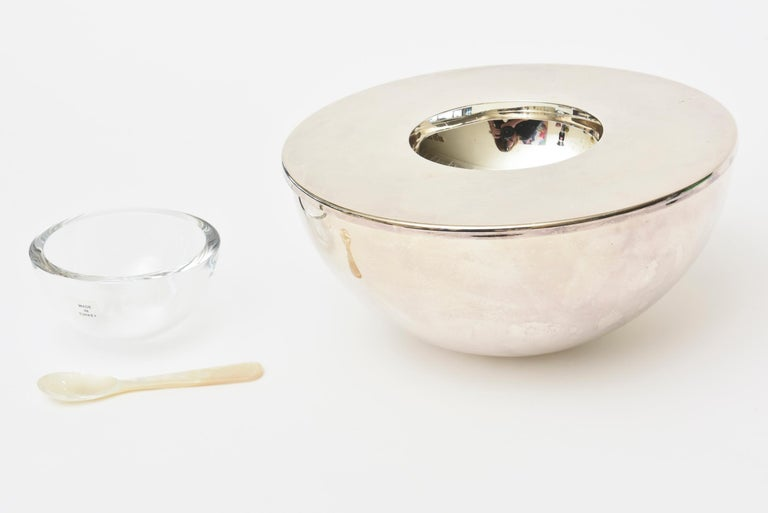 Calvin Klein for Swid Powell Silver-Plate Caviar Serving Bowl/ Barware For Sale 2