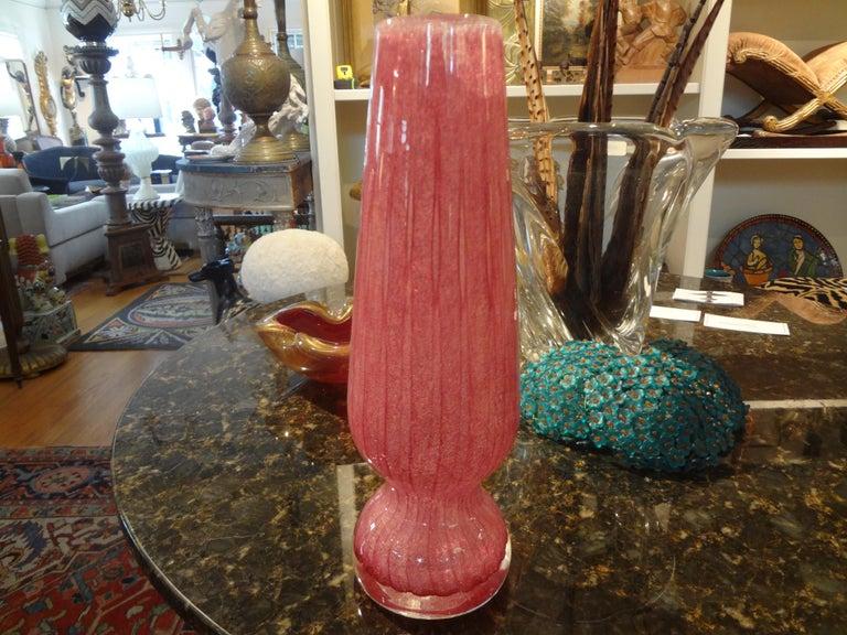 Mid-20th Century Modernist Carlo Scarpa for Venini Style Murano Glass Vase For Sale