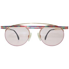 Modernist Cazal Sculptural Pink Sunglasses