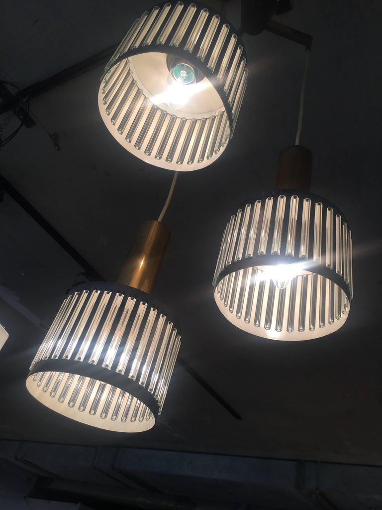 Lacquered Modernist Ceiling Light from the 1950s For Sale