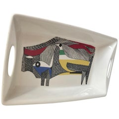 Modernist Ceramic Serving Dish by Herman Bongard for Figgjo, 1960s