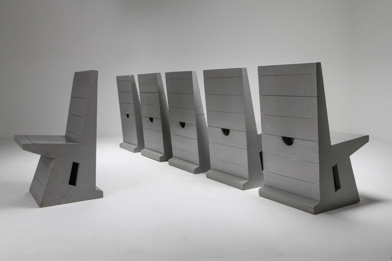Belgian Modernist Chair by Dom Hans van der Laan For Sale