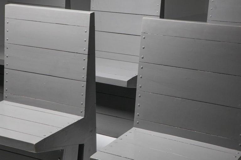 Wood Modernist Chair by Dom Hans van der Laan For Sale