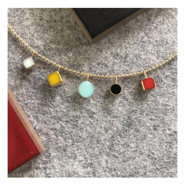 Retro Modernist Charm Necklace For Sale