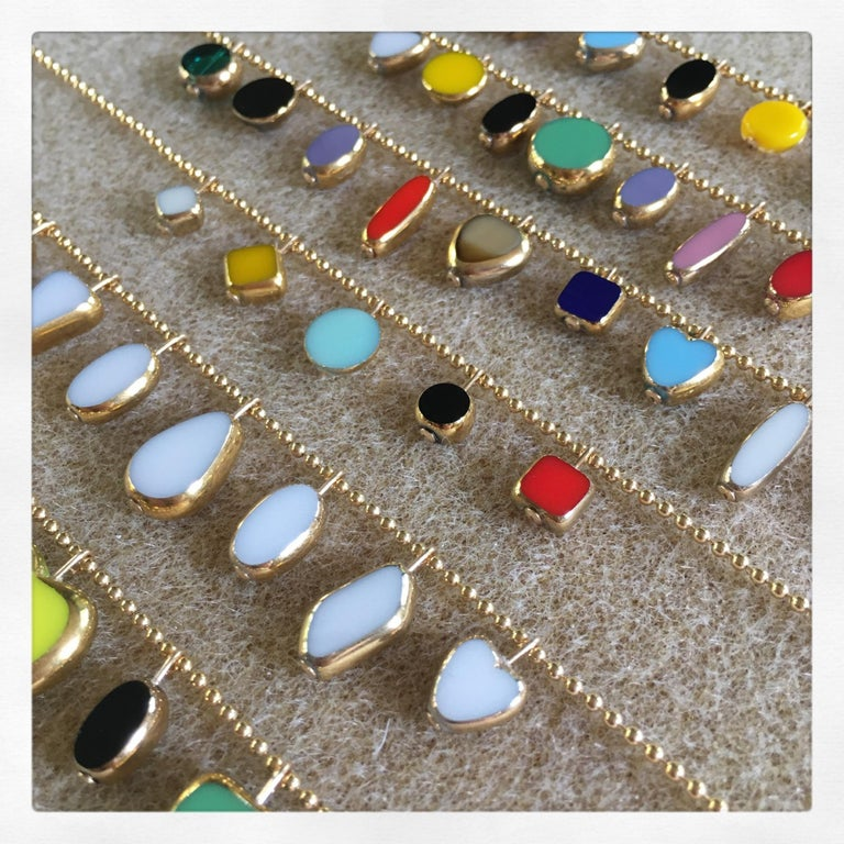 Modernist Charm Necklace In New Condition For Sale In Los Angeles, CA