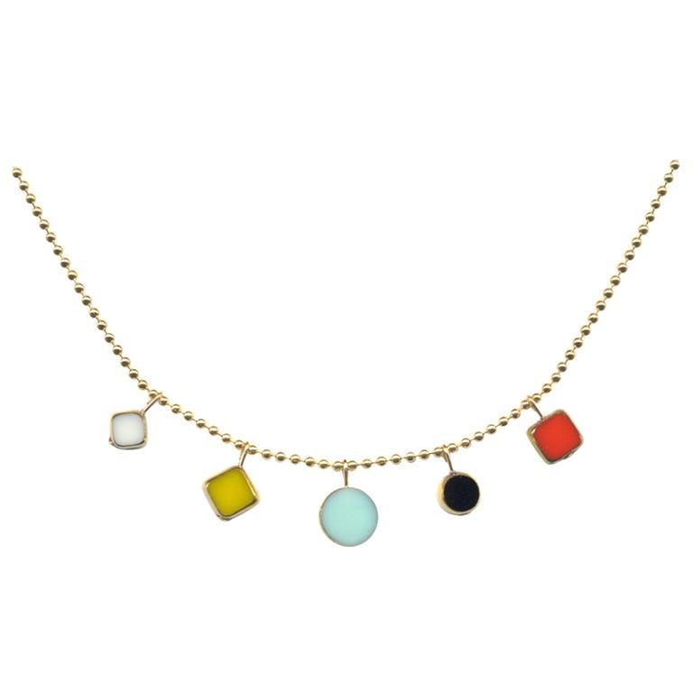 Modernist Charm Necklace For Sale