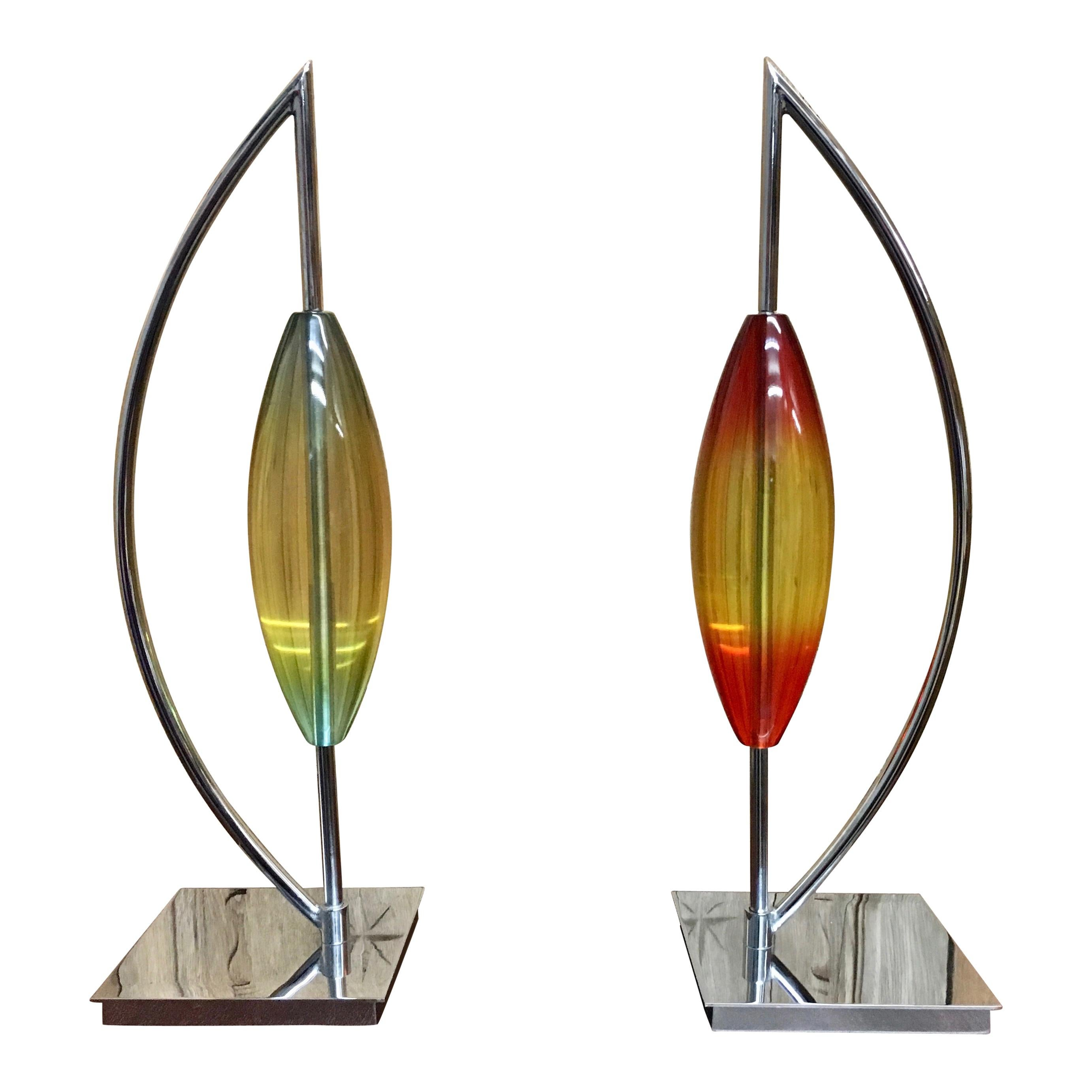 Modernist Chrome and Lucite Sculpture