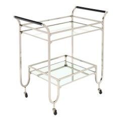 Modernist Chrome Bar Cart