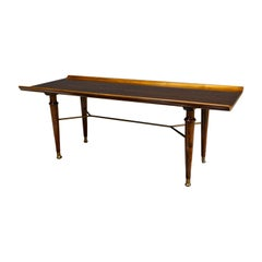 Modernist Coffee Table in Mahogany and Brass Poly-Z Series Art Deco A.Patijn