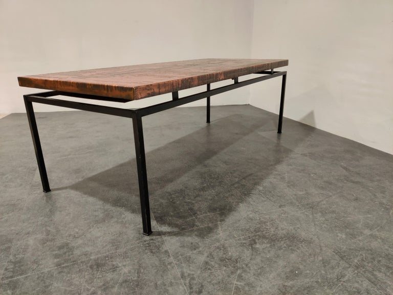 Modernist Copper Coffee Table, 1960s For Sale 4