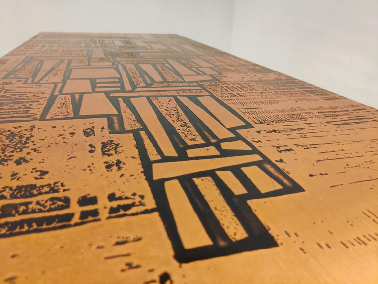 Modernist Copper Coffee Table, 1960s For Sale 2