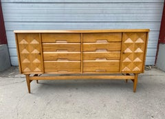 Modernist Credenza /server,,button tufted doors designed by Salvatore Bevelacqua