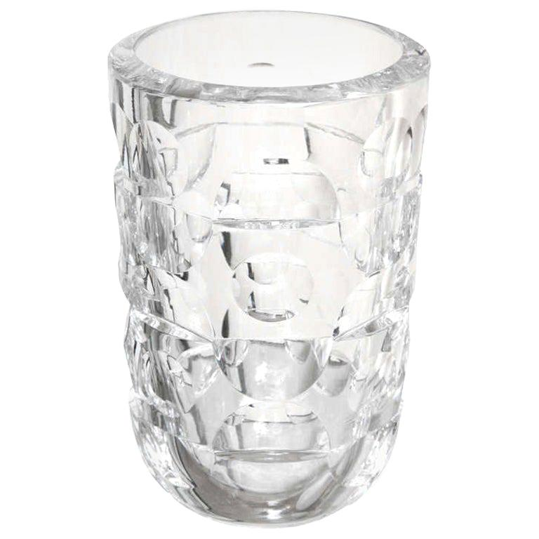Mona Morales Schildt for Orrefors crystal vase, 1960s, offered by Vermillion 20th Century Furnishings