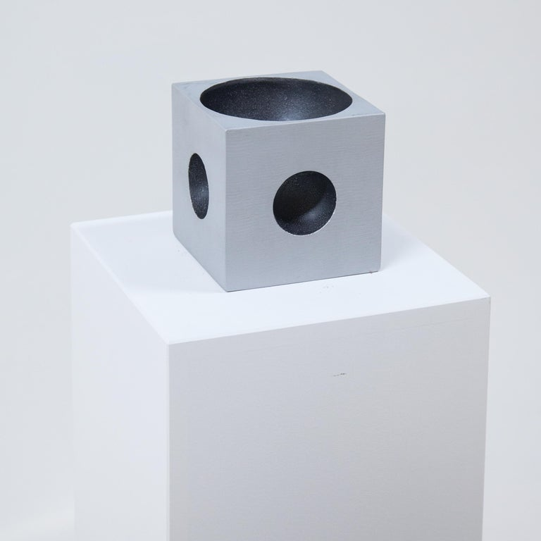 Italian Modernist Cube Sculpture by Artist Lorenzo Burchiellaro For Sale