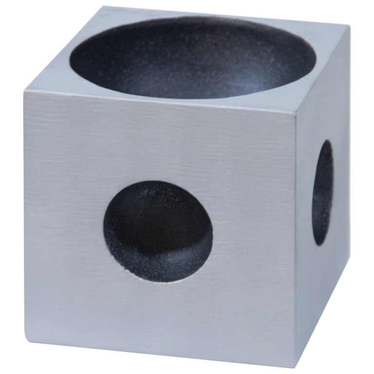 Modernist Cube Sculpture by Artist Lorenzo Burchiellaro For Sale