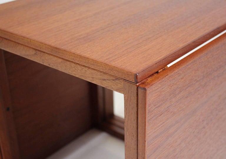 Modernist Danish Kai Kristiansen Teak Wood Modular Nesting Tables For Sale 5