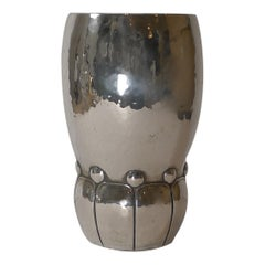 Modernist Danish Silver Vase by Heimburger, c.1921