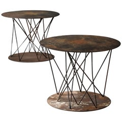 Modernist Designer, Side Tables / Occasional Tables, Metal, America, 1970s