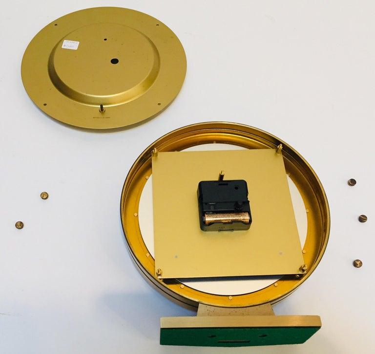 Modernist Desk World Clock Kundo by Kieninger & Obergfell West Germany 1960s For Sale 4
