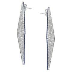 Ralph Masri Modernist Diamond Sapphire Earrings