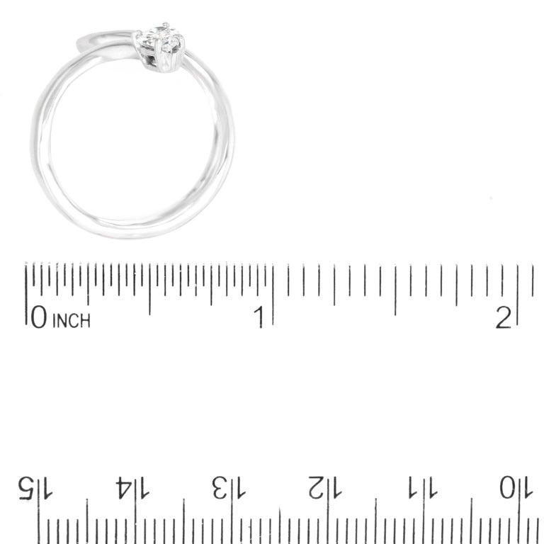 Modernist Diamond-Set Snake Ring For Sale 1