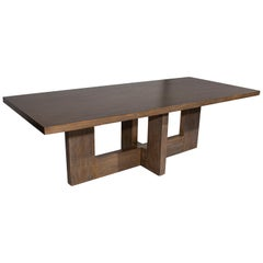 Modernist Dining Table in Red Oak