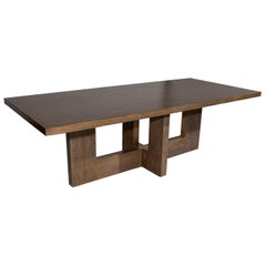 Modernist Dining Table Red Oak