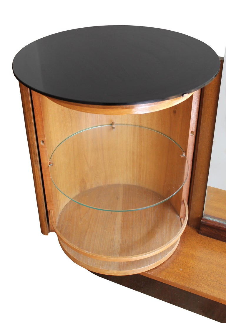 Glass Modernist Dressing Table by Jindrich Halabala for UP Brno For Sale